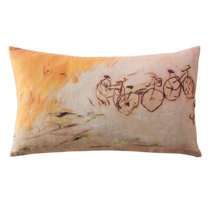 Maison Lévy A Bicyclette Cushion 50 x 30cm (available to order)