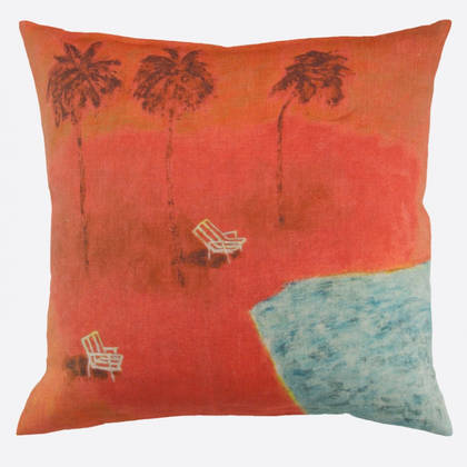 Maison Lévy Sous les Cocotiers Cushion 55cm (available to order)