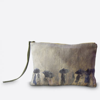 Maison Levy Linen Zip Purse - Horizon de Pluie (sold out)