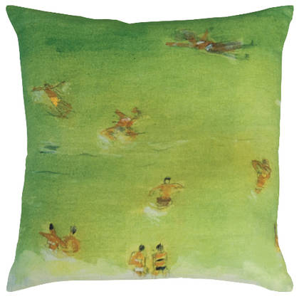 Maison Lévy Baignade Verte Cushion 55cm (available to order)