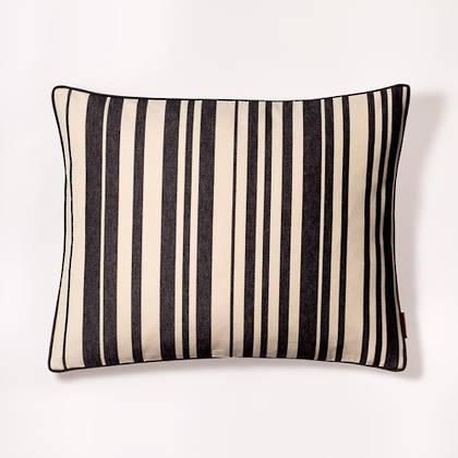 French Stripe Tom Noir Cushion 40x50cm