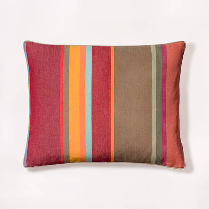 French Stripe Collioure Rouge Cushion 40x50cm