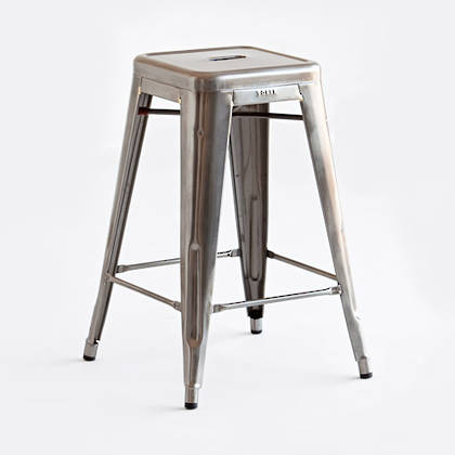 Tolix 65cm Barstool - raw varnished finish (available to order)
