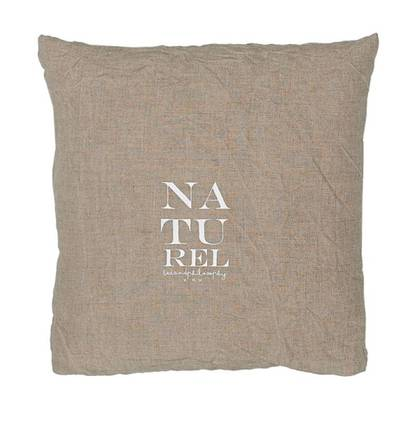 Bed & Philosophy pure linen Molly Cushion in Natural