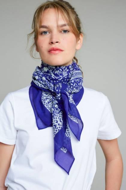 Moismont Scarf - design n°405 Blue (sold out)