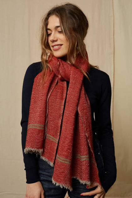 Moismont Scarf - design n° 468 - Rust  (sold out)