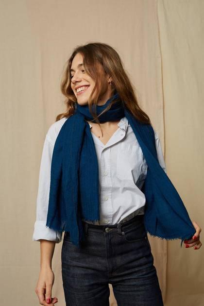 Moismont Scarf - design n° 477 Japan Blue (sold out)