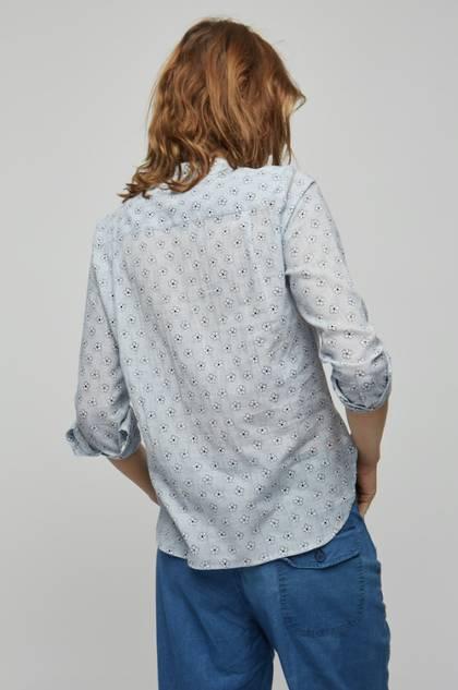Moismont Shirt pure Cotton - design n°511 - Eden Indigo
