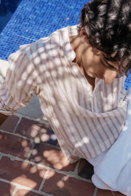 Moismont Shirt pure Cotton - design n°511 - Kos Pink