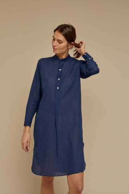 Moismont Tunic pure Cotton - design n°514 - Colorama Indigo (sold out)