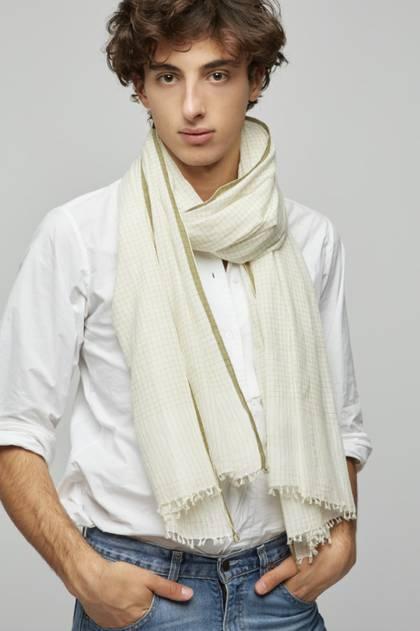 Moismont Scarf - design n°497 Khadi Cotton - Kaki