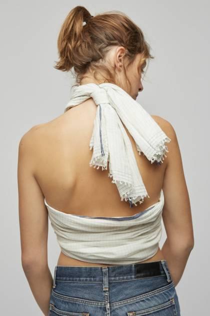 Moismont Scarf - design n°497 Khadi Cotton - White