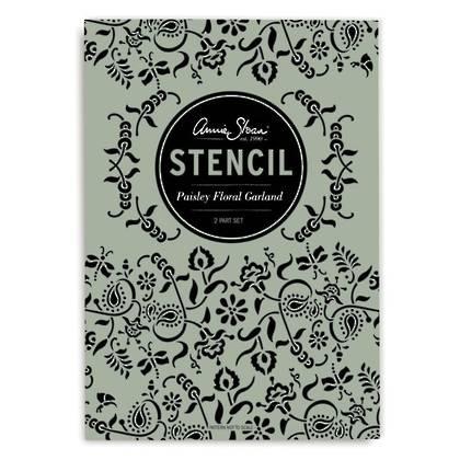 Stencil - Paisley Floral Garland