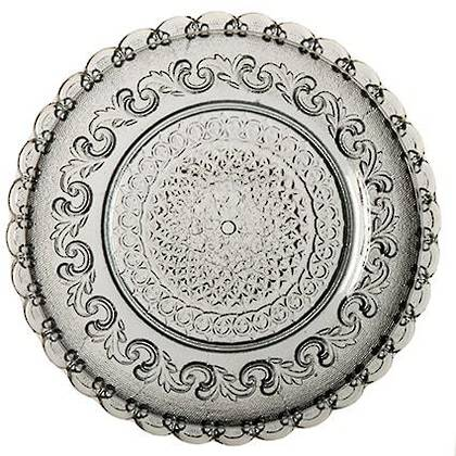 Fleur de Lys Grey Large Plate (available to order)