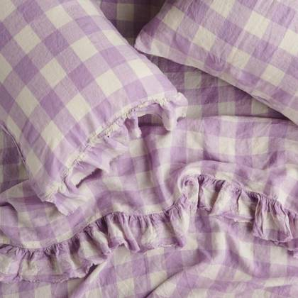Lilac Ruffle Flat Sheet - One size