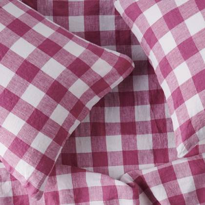 Fuchsia Gingham standard Pillowcase - set of 2 (out of stock)