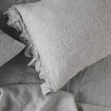 Pinstripe Ruffle standard Pillowcase - set of 2 (available to order)