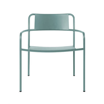 Tolix Patio range - Lounge Chair in Vert Lichen (2 available)