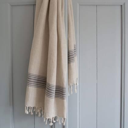 Turkish Hamman Towel - Large Black (sold out)