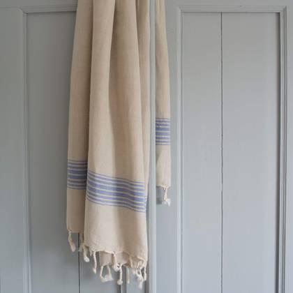 Turkish Hamman Towel - Large Greek Blue