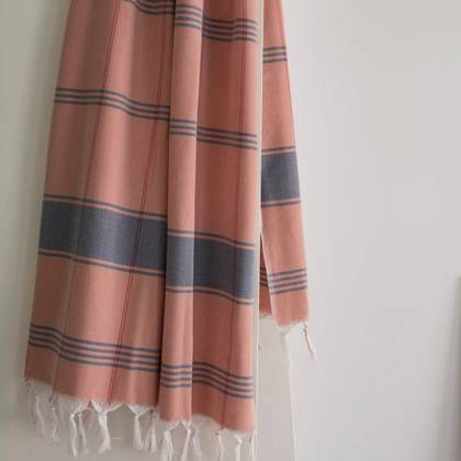 Turkish Organic Cotton Towel - Blush (due instore early Feb)