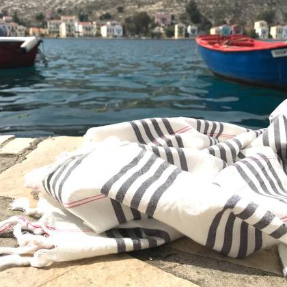 Turkish Organic Cotton Towel - Dark Grey (sold out)