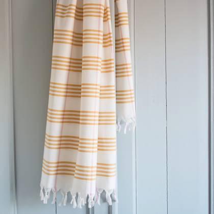 Turkish Organic Cotton Towel - Ochre