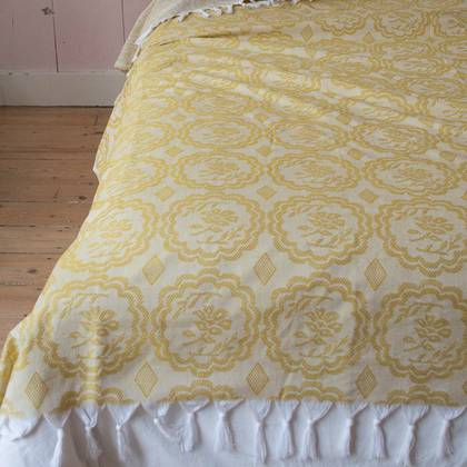 Turkish Cotton Bedcover - Ochre