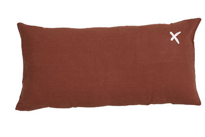 Large Pure linen Lovers cushion in Ambre 55 x 110cm (available to order)