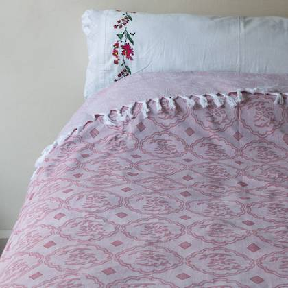 Turkish Cotton Bedcover - Earth