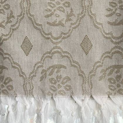 Turkish Cotton Bedcover - Olive Green