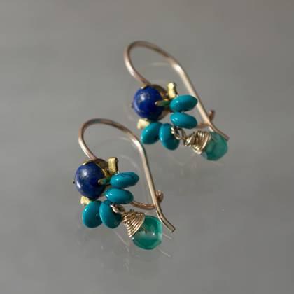 Earrings Dancer lapis, turquoise - n° 314 (sold)