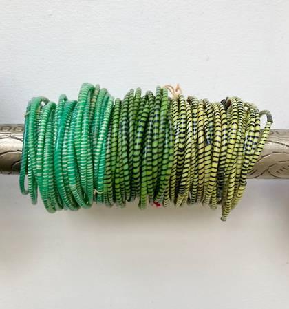 Jokko Bracelets from Mali Africa - set of 6 Green
