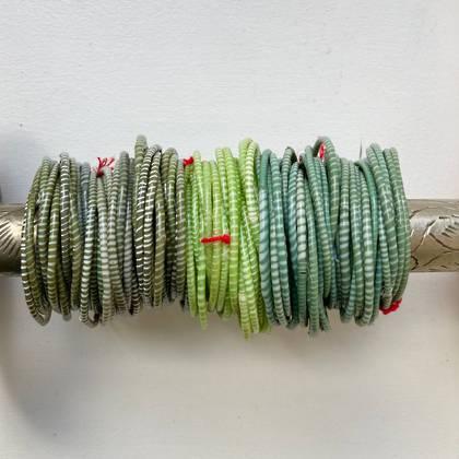 Jokko Bracelets from Mali Africa - set of 6 Geen