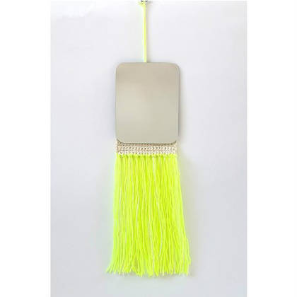Fringe Mirror - fluro embroidered fringe (sold out)