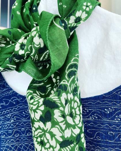 Moismont Scarf - design n°519 100% Cotton - Evergreen