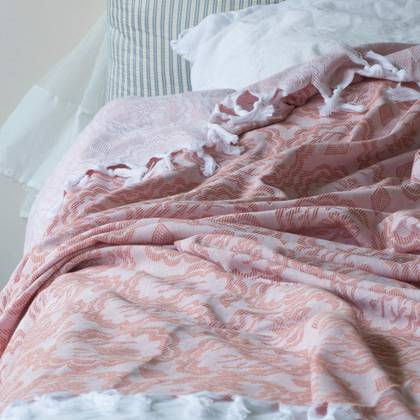 Turkish Cotton Bedcover - Copper (sold out)