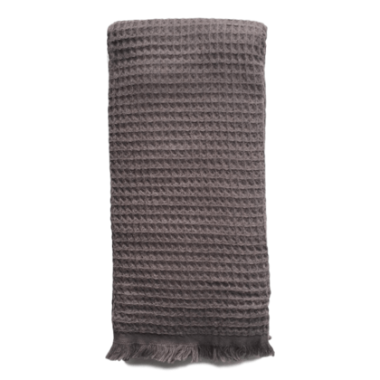 Waffle Turkish Towel  - Charcoal