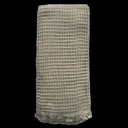 Waffle Turkish Towel  - Olive Grey