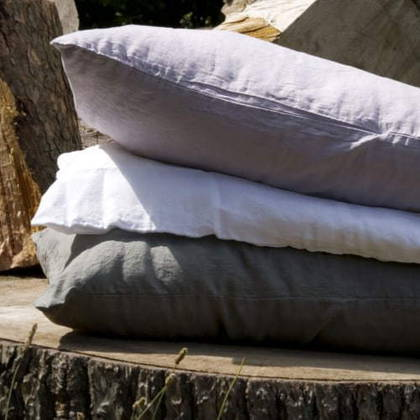 Bed & Philosophy pure linen Pillowcase - Std Size. Available in 12 colours