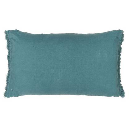 Bed & Philosophy pure linen Fringe Pillowcase - Std Size in Mineral