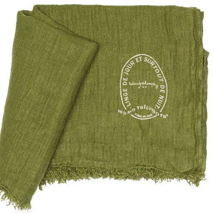 Bed & Philosophy Pure Linen Throw - Jungle