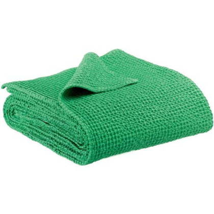 Portuguese Cotton Throw - Mid Green