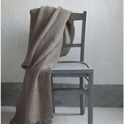 Portuguese Cotton Throw - Dark Grey