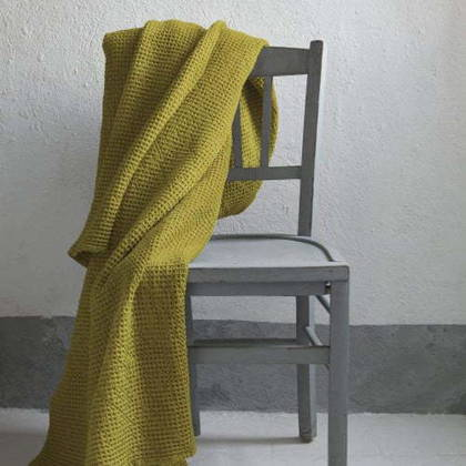 Portuguese Cotton Throw - Curry
