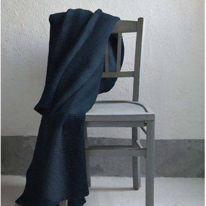 Portuguese Cotton Throw in Navy Blue - medium (sold out)