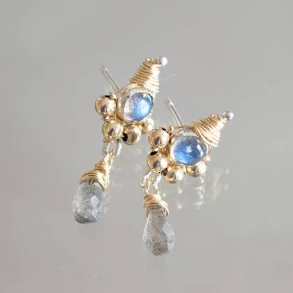 Earrings Drop labradorite - n° 284 (sold)