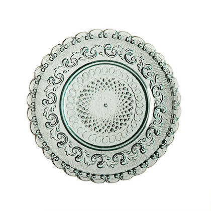 Fleur de Lys Light Blue Side Plate - set of 2 (available to order)