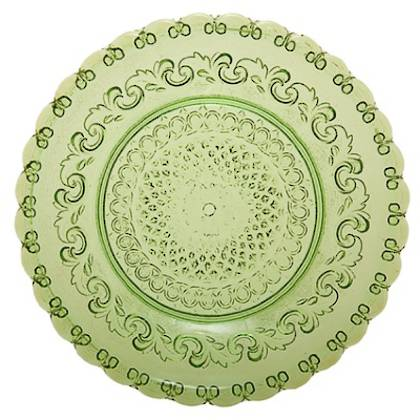 Fleur de Lys Green Large Plate (available to order)
