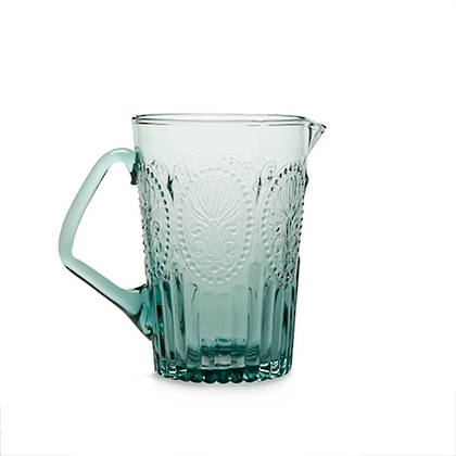 Fleur de Lys Blue Pitcher (available to order)